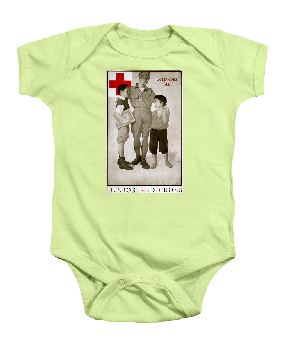 1919 Baby Onesie featuring the photograph Junior Red Cross Poster by Granger