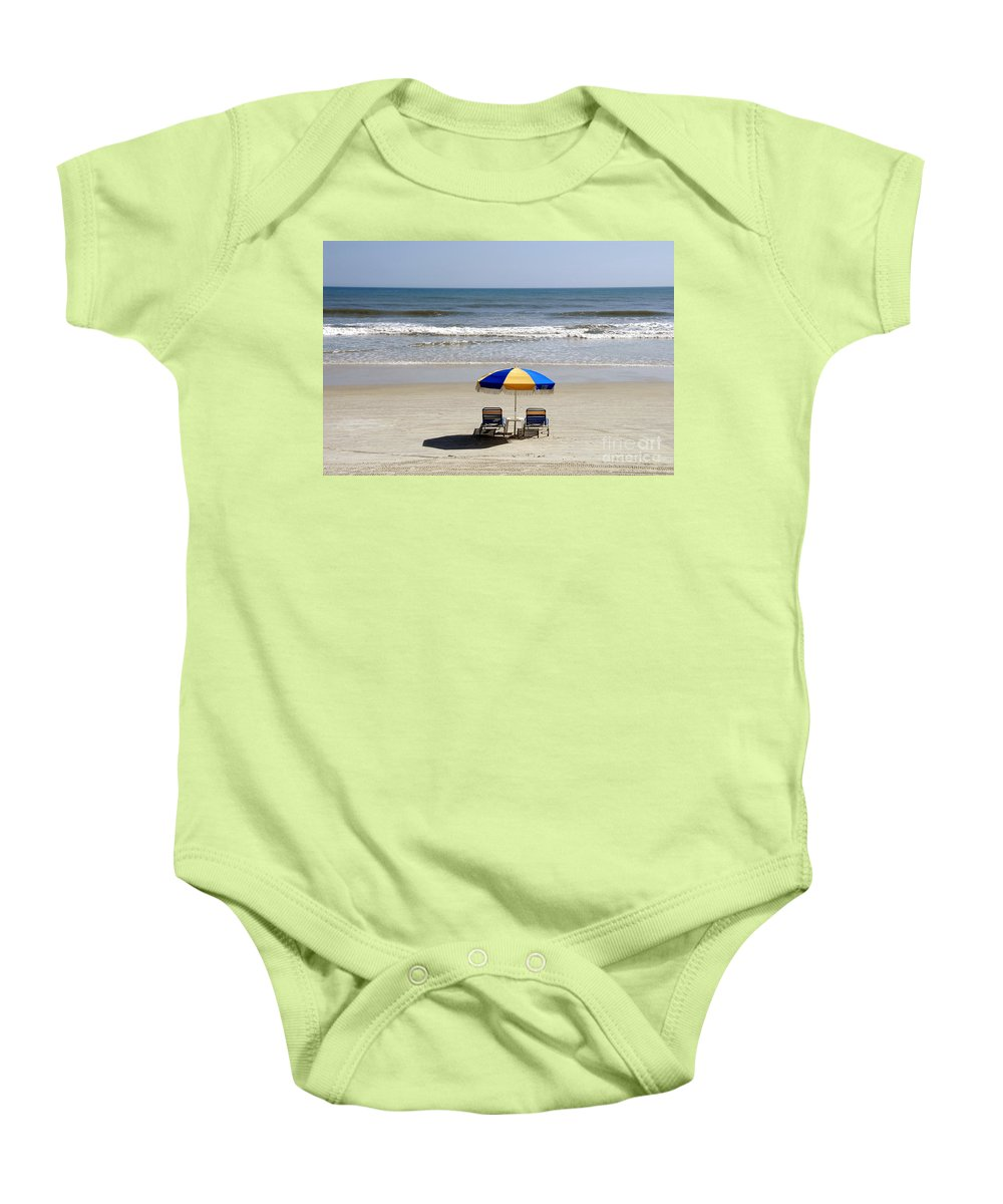 Beach Baby Onesie featuring the photograph Just The Two Of Us by David Lee Thompson