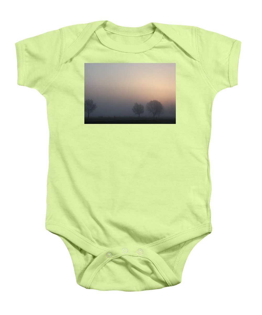 Kansas Baby Onesie featuring the photograph Kansas Morning by D'Arcy Evans