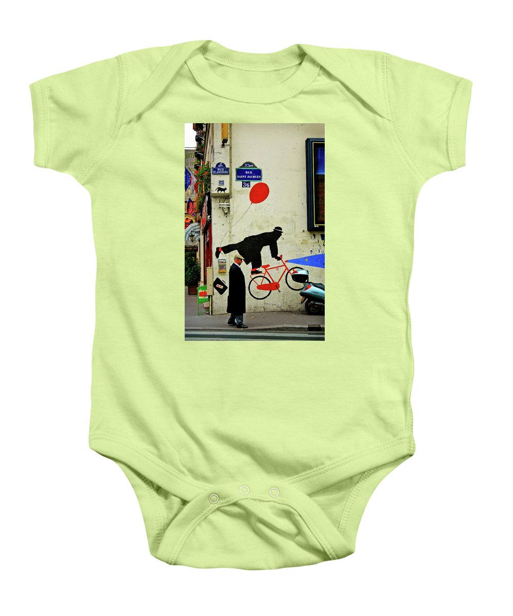 Paris Baby Onesie featuring the photograph Kick In The Head by Skip Hunt