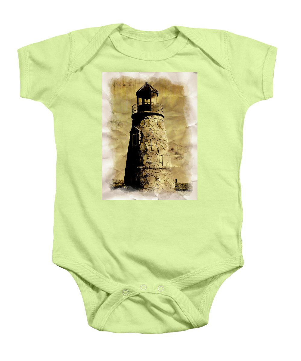 Lighthouse Baby Onesie featuring the photograph Lighthouse by Adam Vance