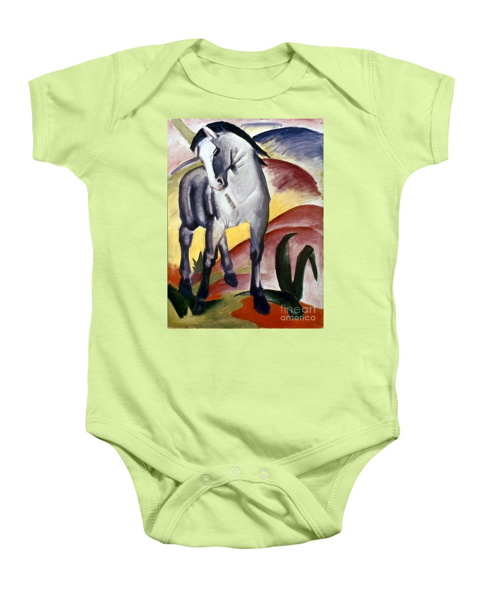 1911 Baby Onesie featuring the photograph Marc: Grey Horse, 1911 by Granger