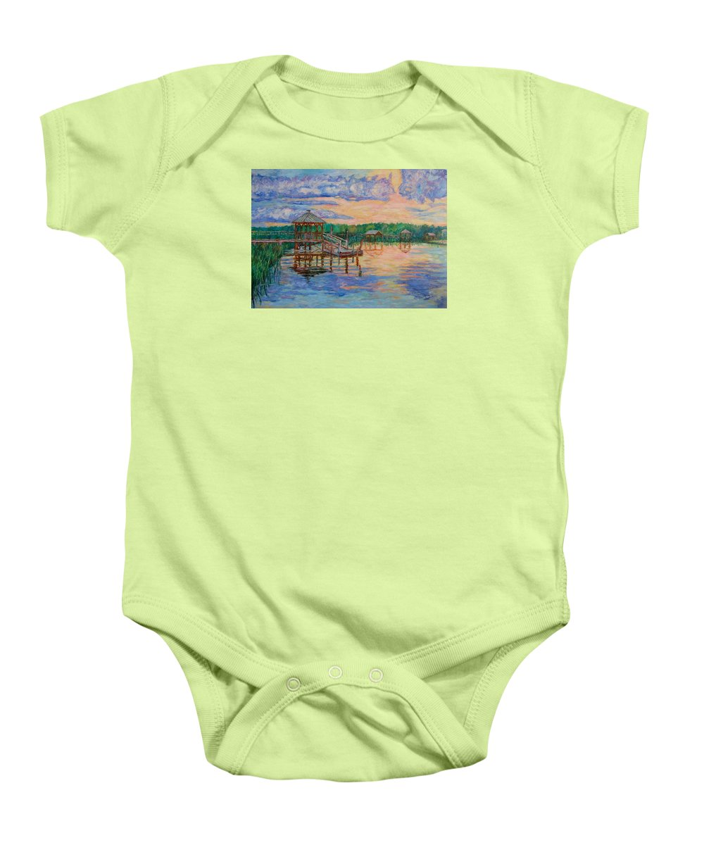 Landscape Baby Onesie featuring the painting Marsh View At Pawleys Island by Kendall Kessler