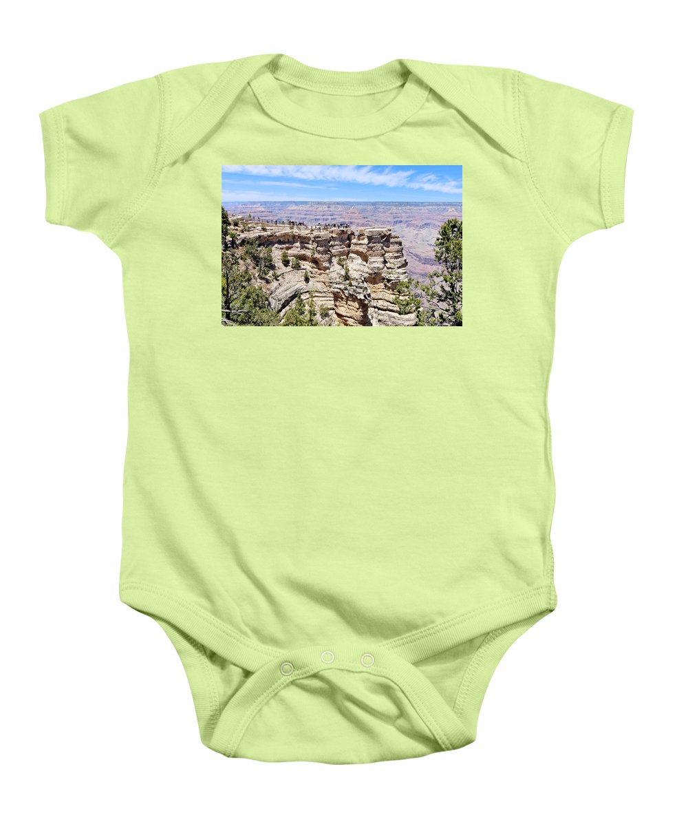 Mather Point Baby Onesie featuring the photograph Mather Point At The Grand Canyon by Julie Niemela