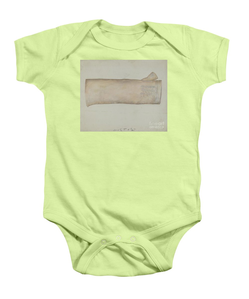 Baby Onesie featuring the drawing Mitt by Edna C. Rex