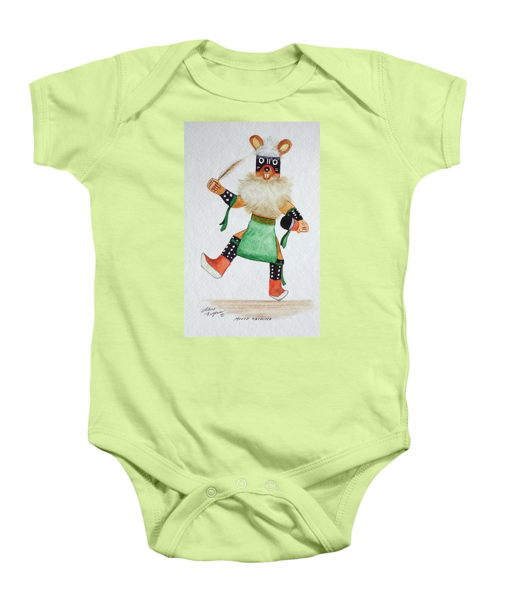 Mouse Baby Onesie featuring the mixed media Mouse by Mary Rogers