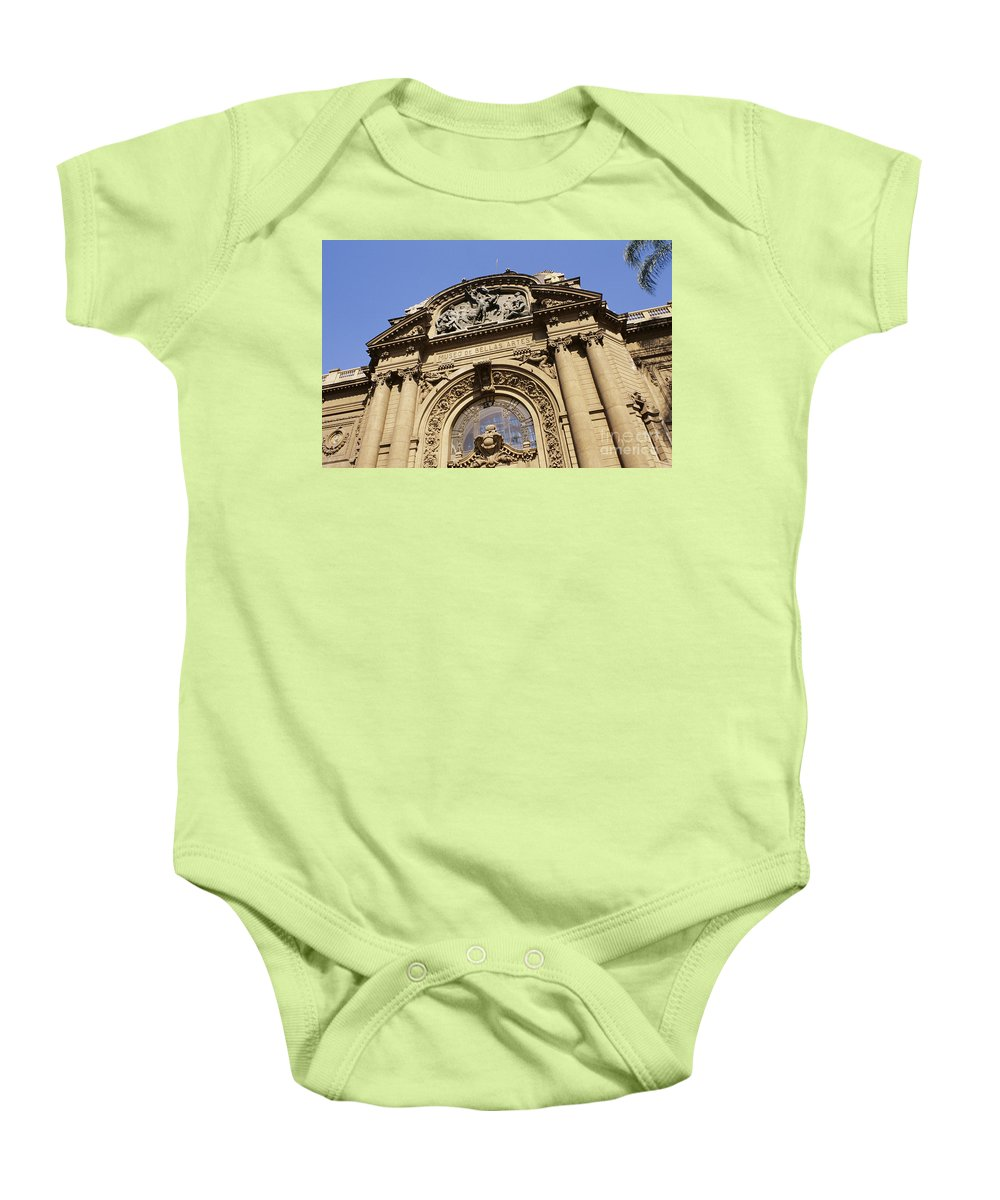 Angle Baby Onesie featuring the photograph Museo De Bellas Artes. by Larry Dale Gordon - Printscapes
