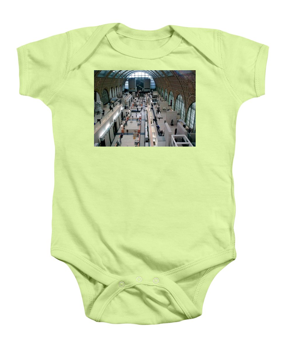 Museum Baby Onesie featuring the photograph Museum D'orsay Paris by Valerie Ornstein
