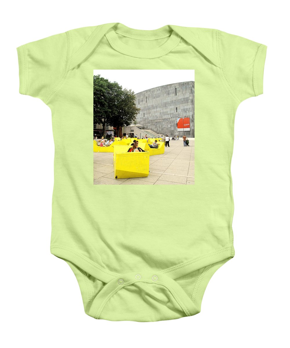 Museum Baby Onesie featuring the photograph Museum Modener Kunst by Ian MacDonald