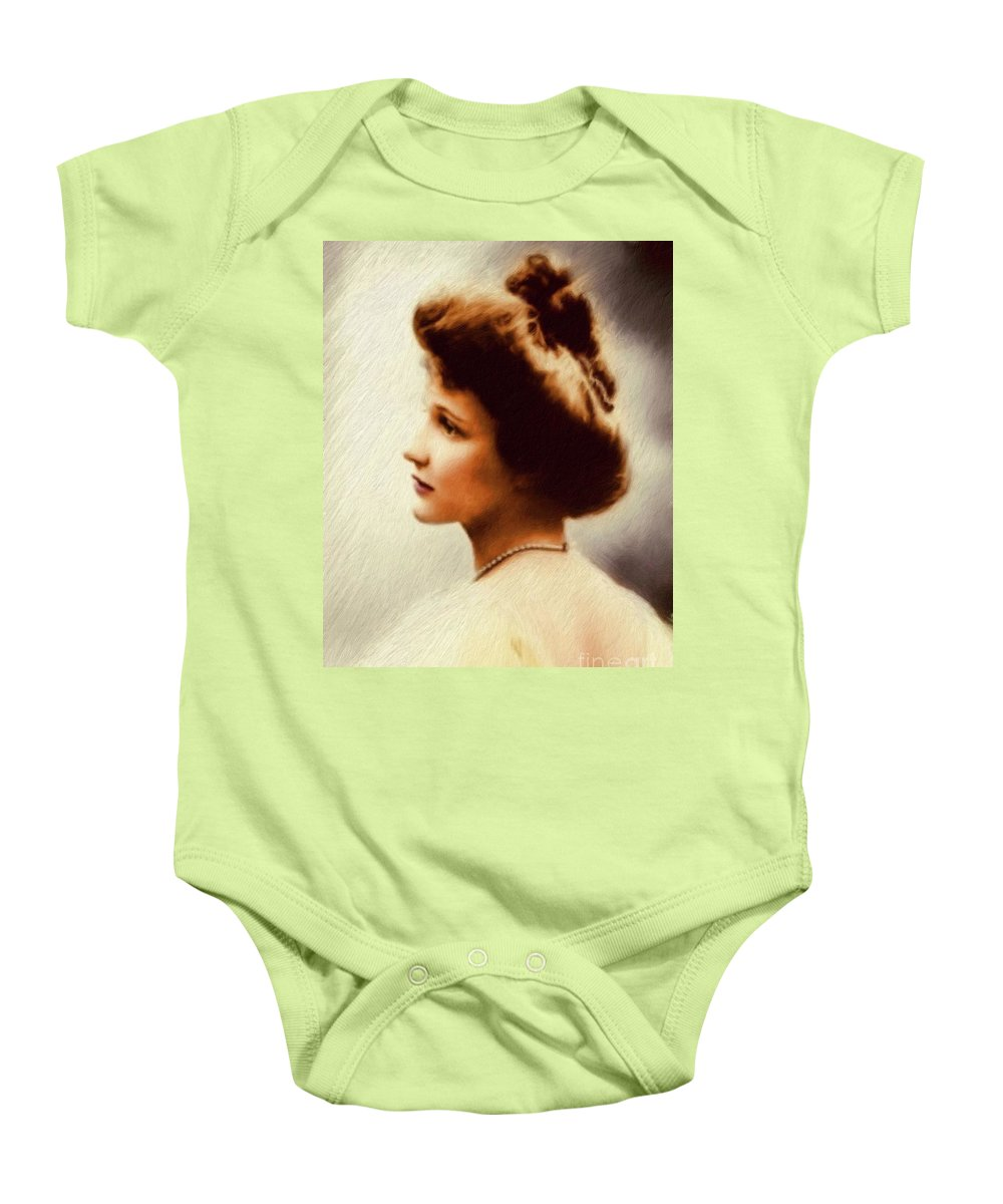 Nancy Baby Onesie featuring the painting Nancy Witcher Langhorne Astor by Mary Bassett