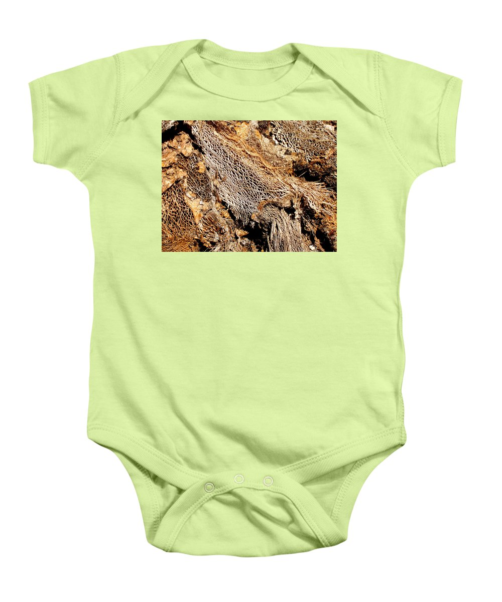 Texture Baby Onesie featuring the photograph Natural Textural Abstract by Wayne Potrafka