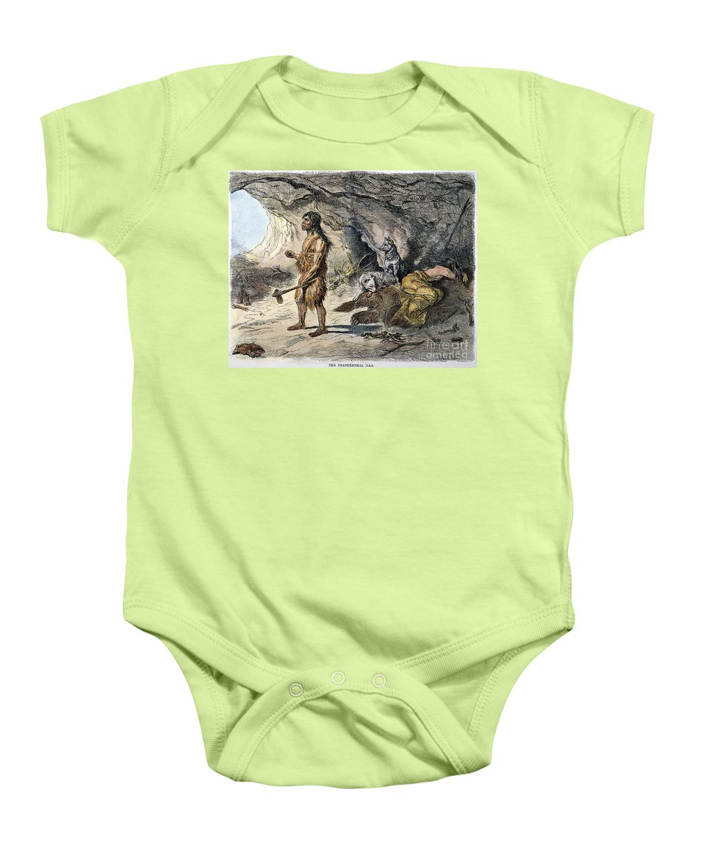 1873 Baby Onesie featuring the photograph Neanderthal Man by Granger
