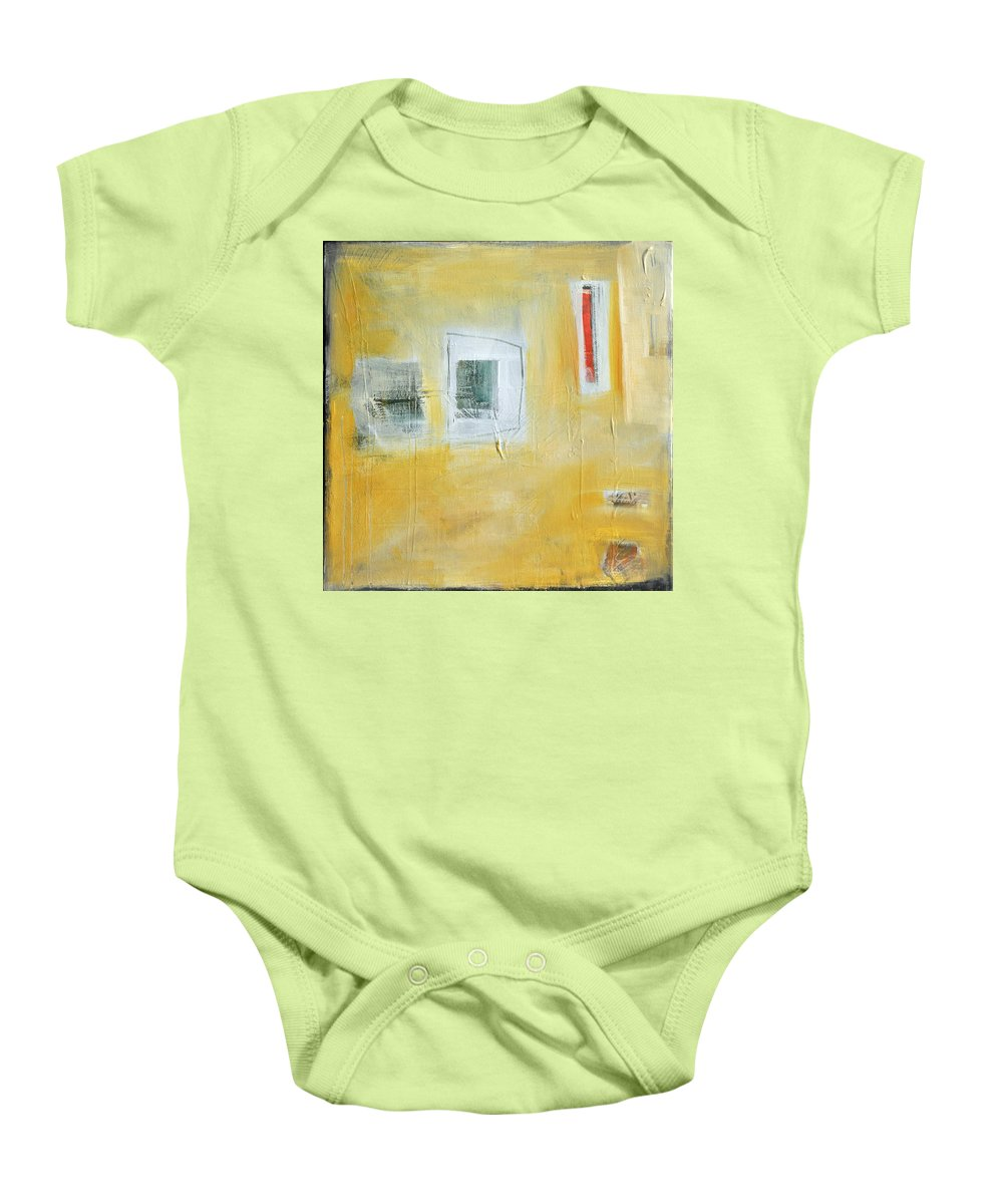 Abstract Baby Onesie featuring the painting Oasis by Tim Nyberg