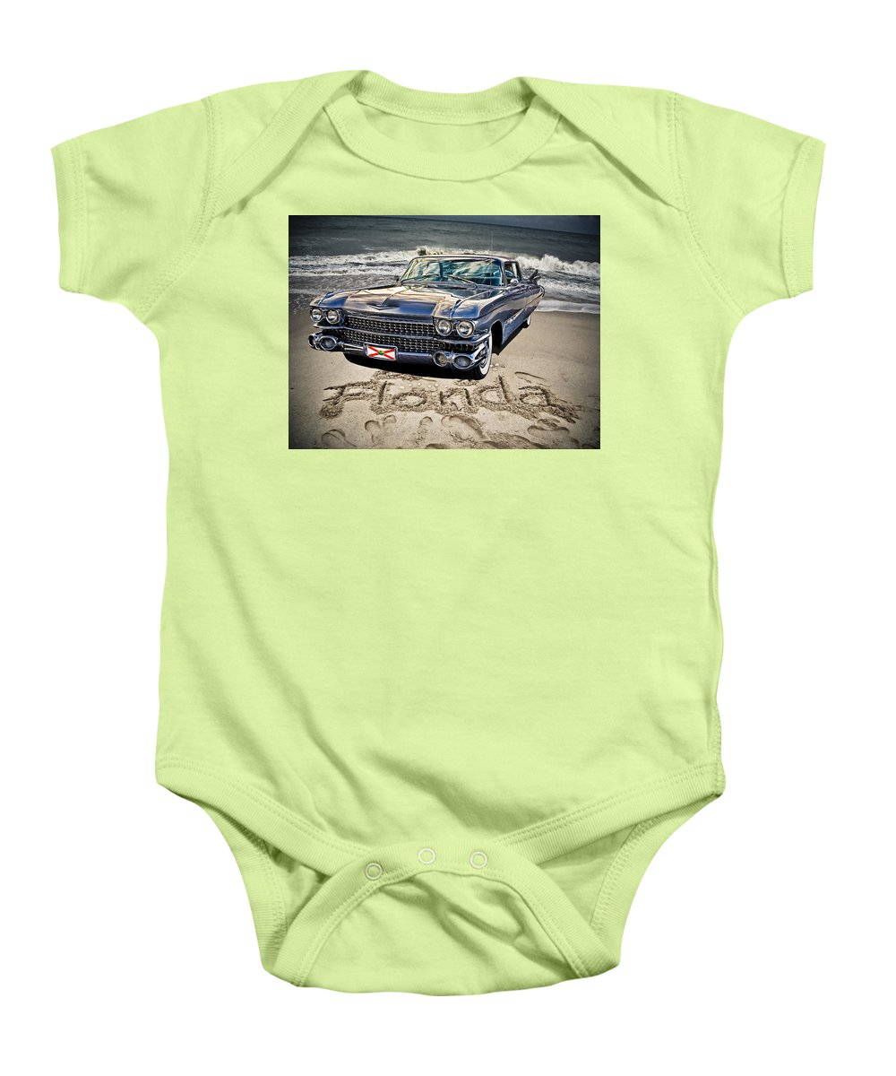 Cadillac Baby Onesie featuring the photograph Ocean Drive by Joachim G Pinkawa