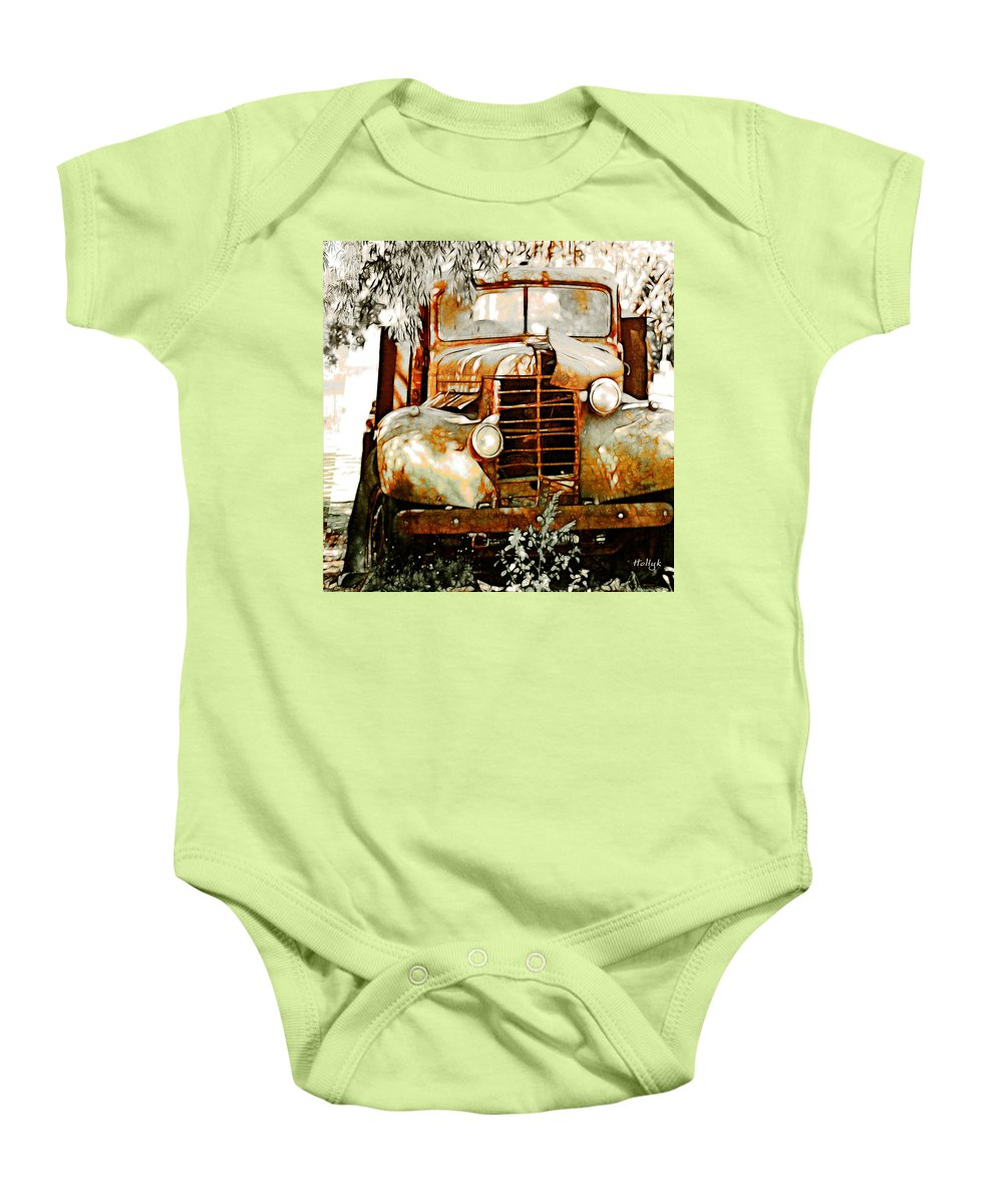 Transportation Baby Onesie featuring the photograph Old Memories Never Die by Holly Kempe