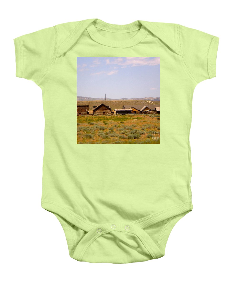 Montana Baby Onesie featuring the photograph Old West by Chad Kroll