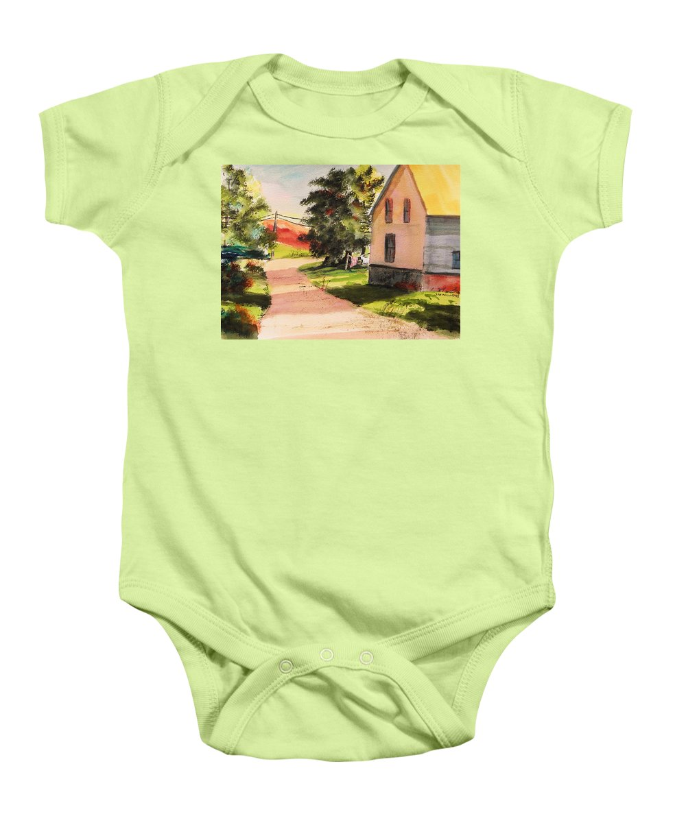 House Baby Onesie featuring the painting On The Line by John Williams