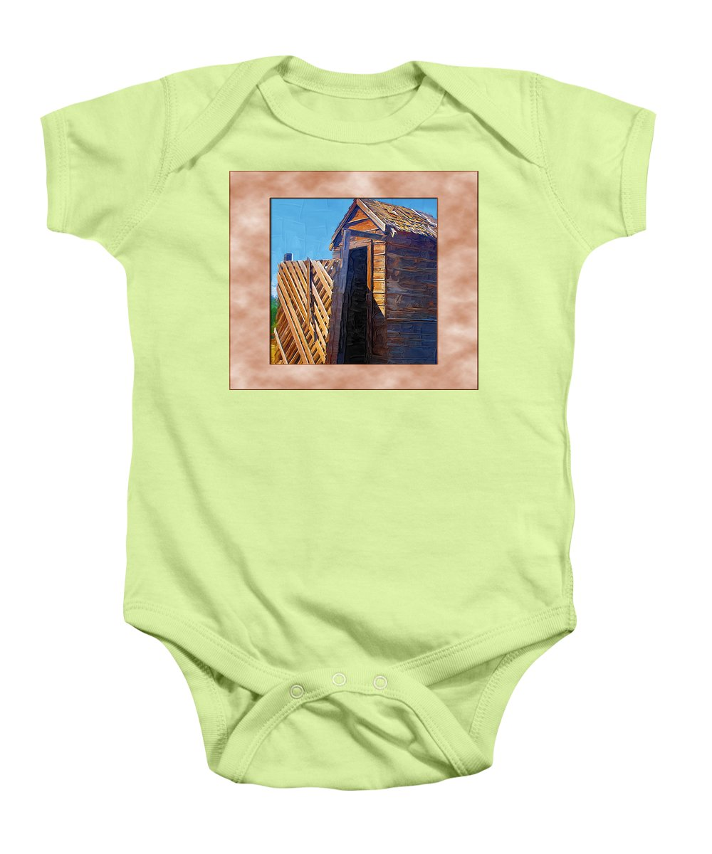 Outhouses Baby Onesie featuring the photograph Outhouse 2 by Susan Kinney