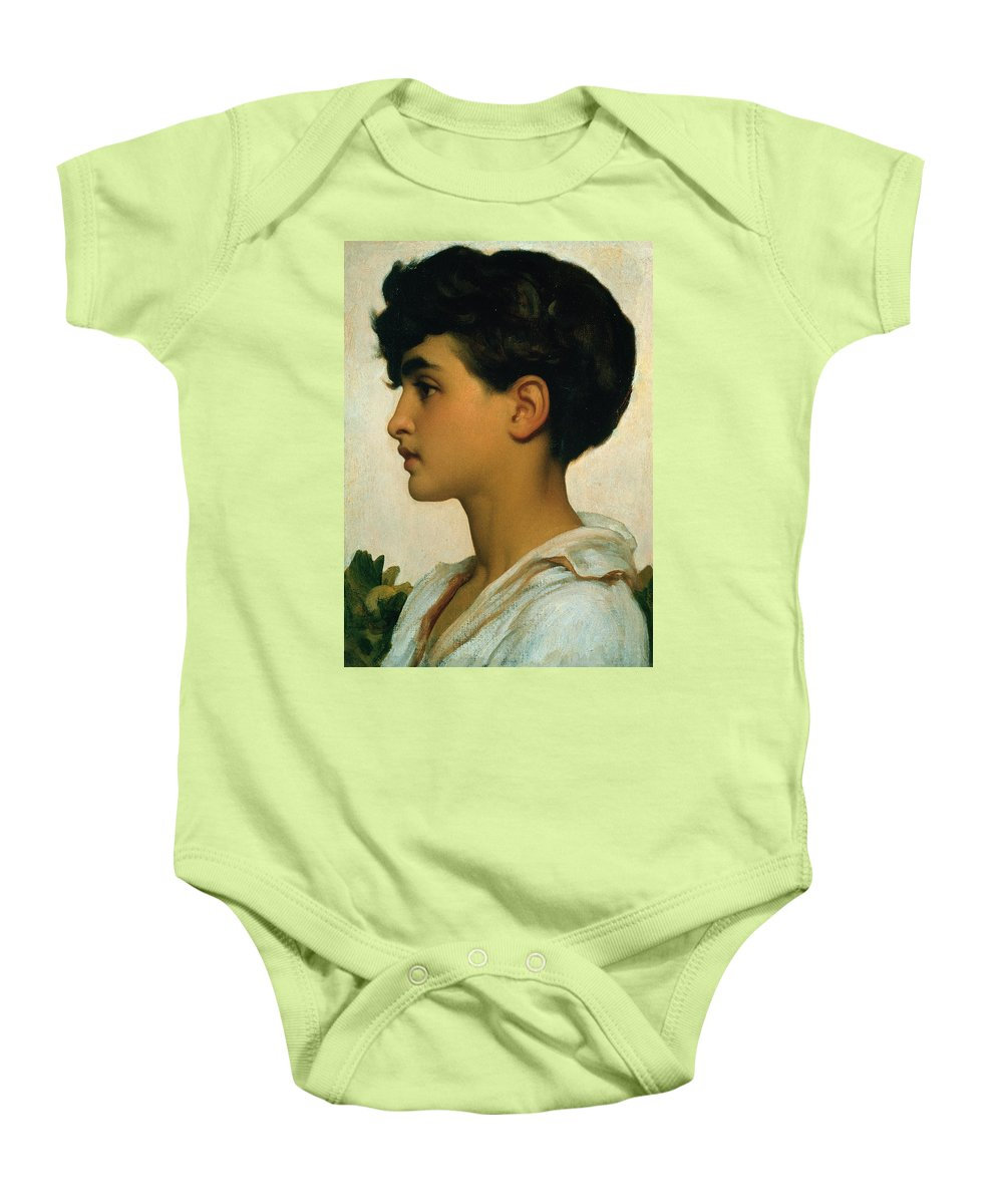 Paolo Baby Onesie featuring the painting Paolo by Frederic Leighton