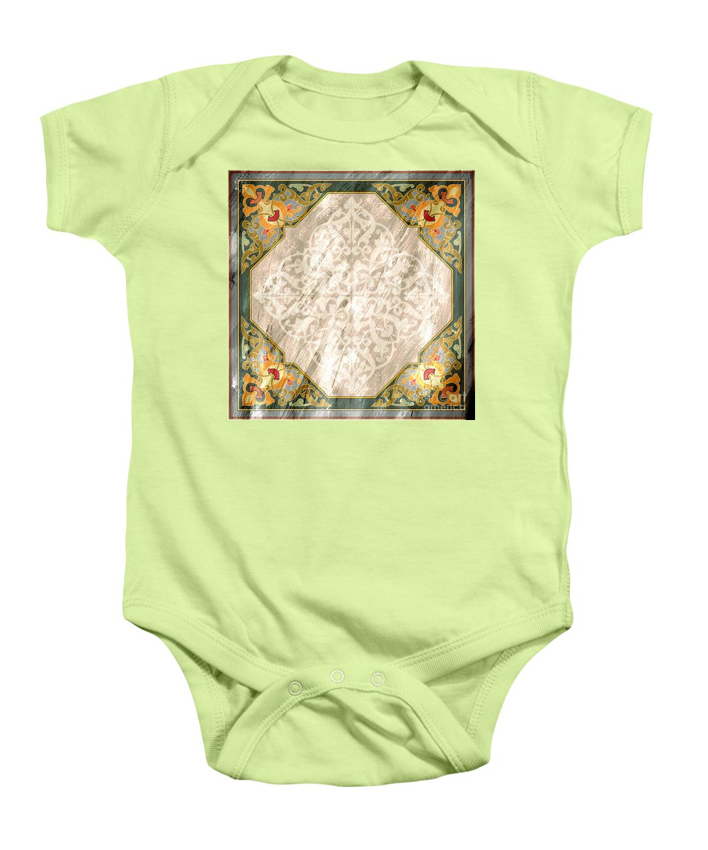 Pattern Baby Onesie featuring the painting Pattern Art 030 by Gull G