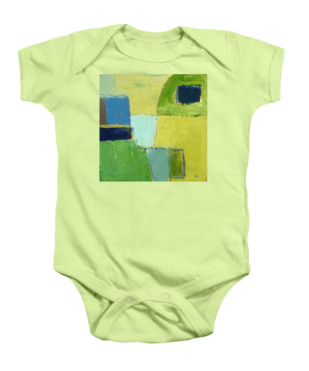 Abstract Baby Onesie featuring the painting Peace 1 by Habib Ayat