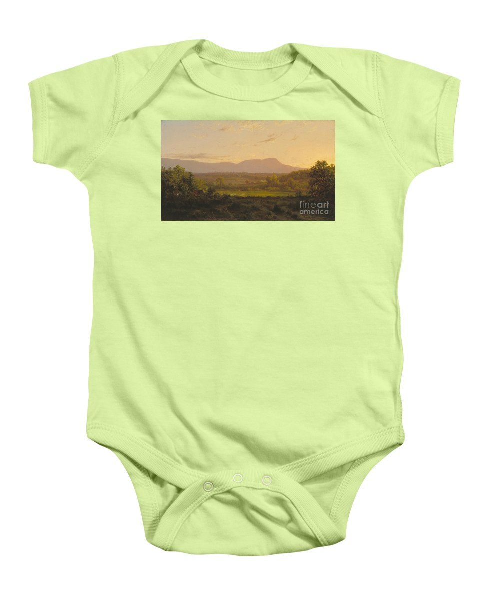 Baby Onesie featuring the painting Peaceful Valley by Alexander Helwig Wyant