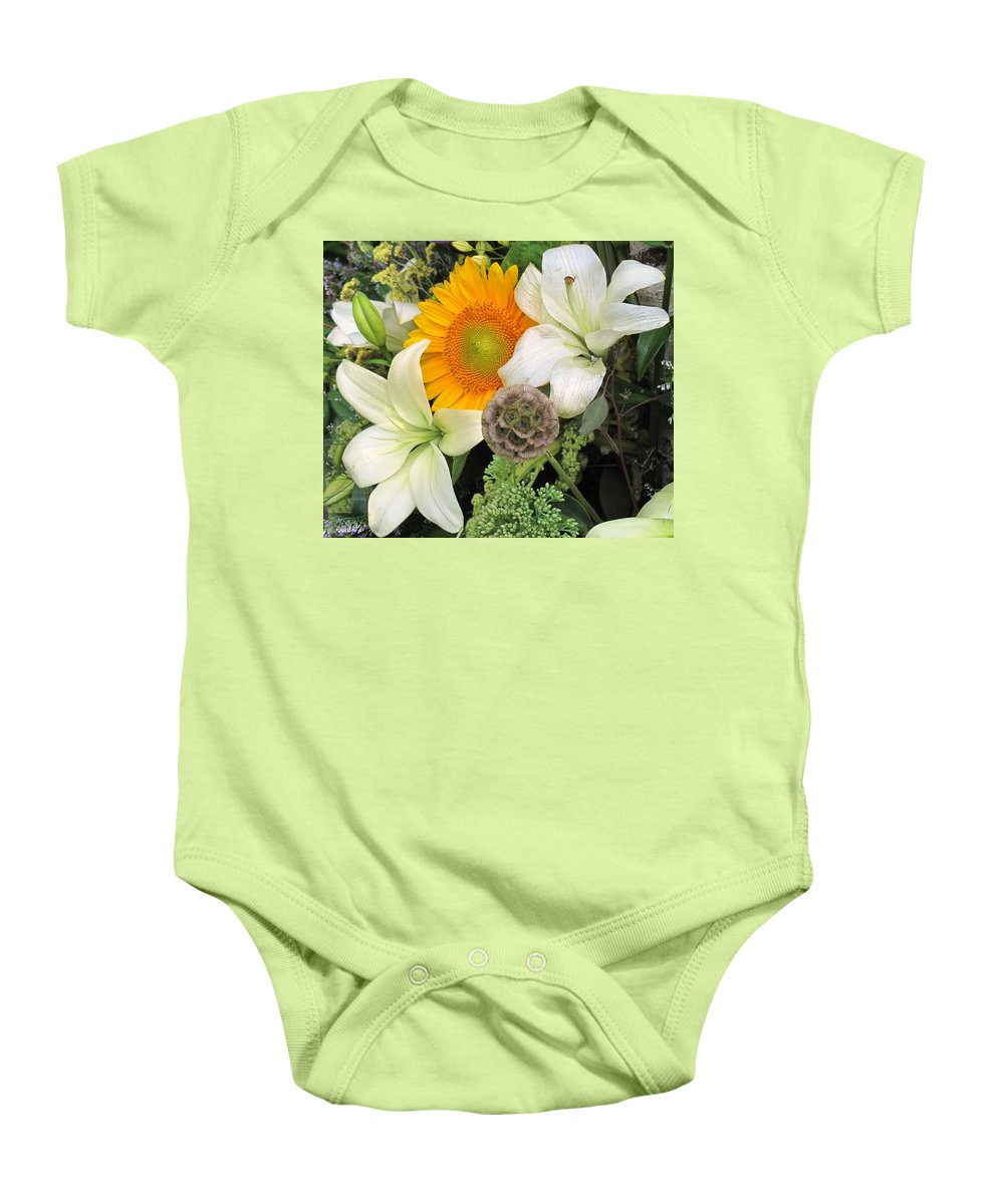 Lillies Baby Onesie featuring the photograph Peeking Out by Ian MacDonald