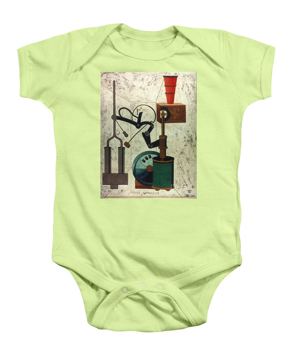 1917 Baby Onesie featuring the photograph Picabia: Parade by Granger