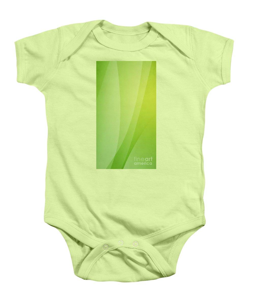 Green Baby Onesie featuring the digital art Plant by Archangelus Gallery