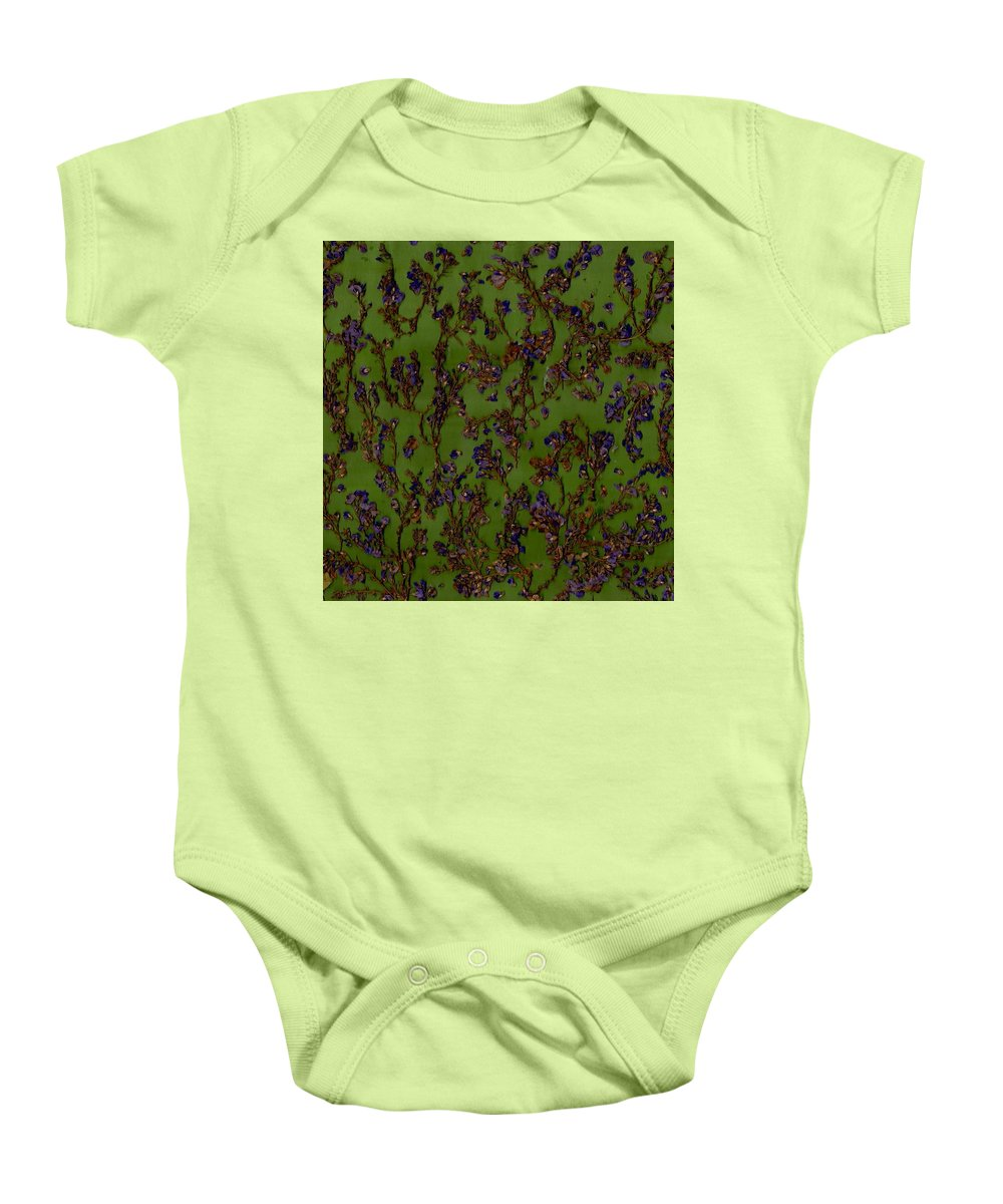 Modern Baby Onesie featuring the photograph Purple Paragon In Green by Morgan Shoaff