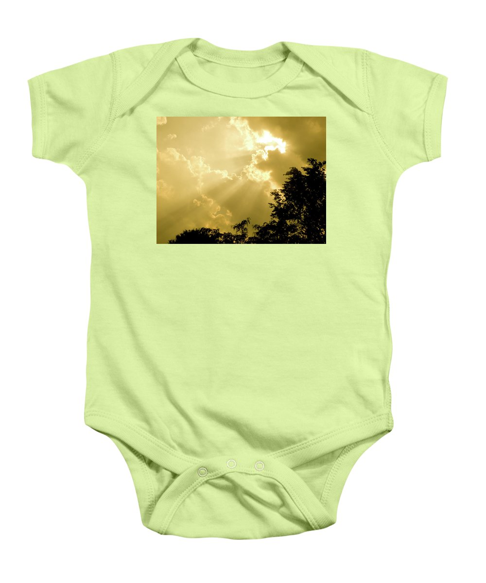 Sun Baby Onesie featuring the photograph Rays Of Glory by Trish Tritz