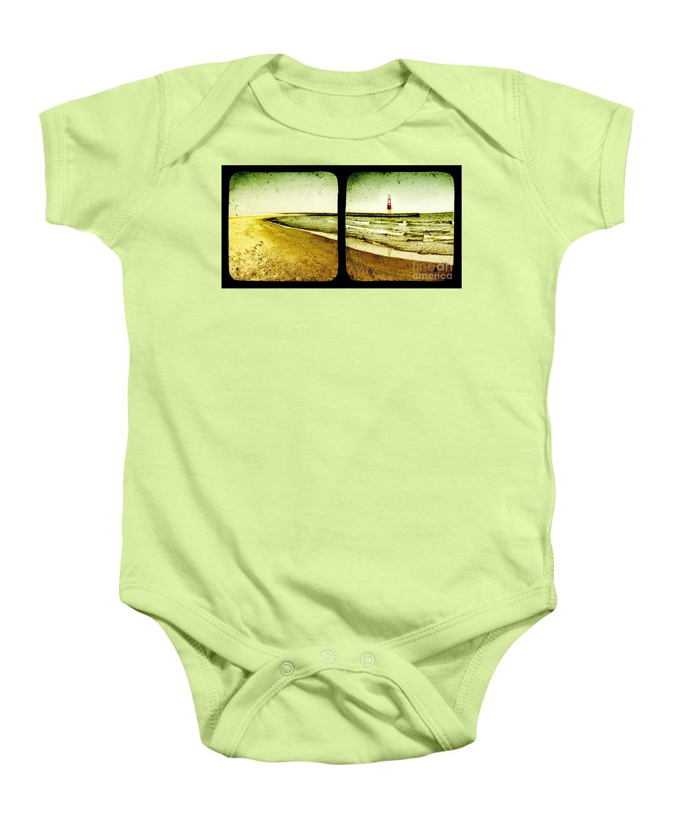 Ttv Baby Onesie featuring the photograph Reaching For Your Hand by Dana DiPasquale