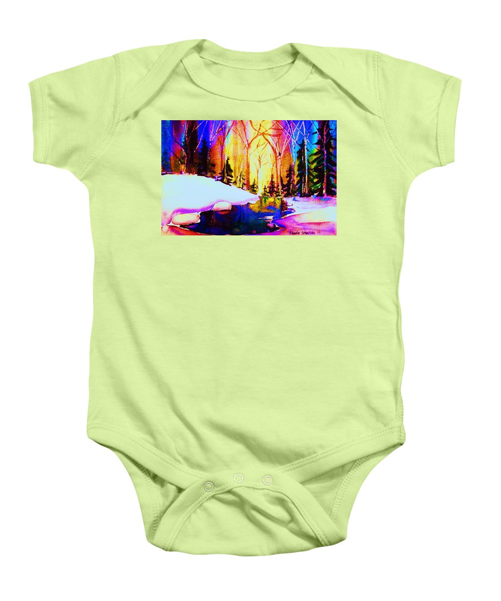 Reflections Baby Onesie featuring the painting Reflection by Carole Spandau