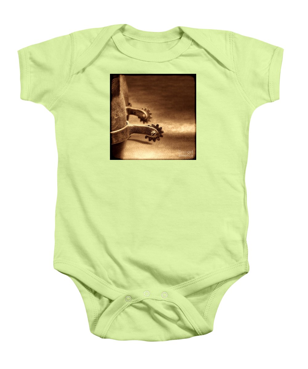 West Baby Onesie featuring the photograph Riding Spurs by American West Legend By Olivier Le Queinec