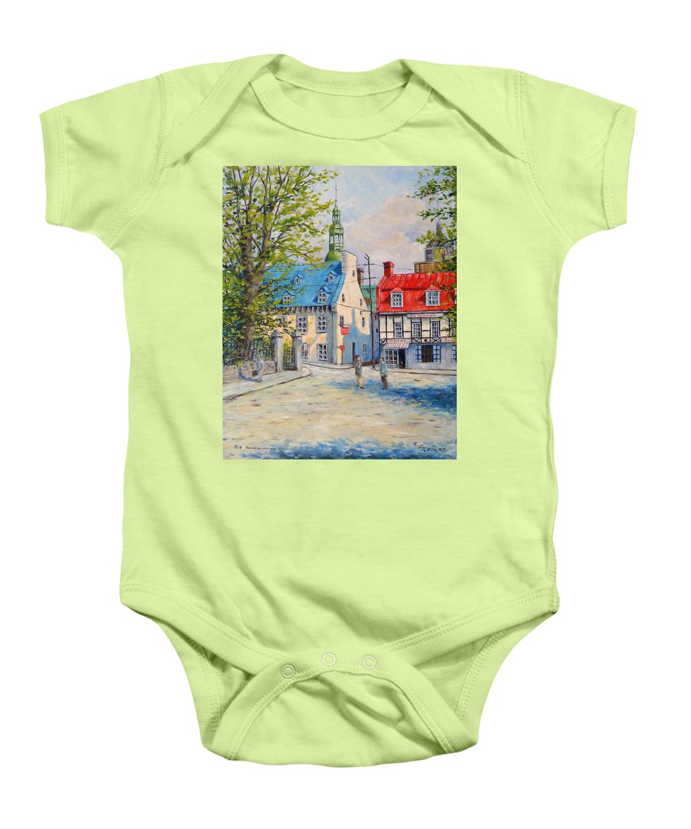 Ste Anne Baby Onesie featuring the painting Rue Ste Anne 1965 by Richard T Pranke