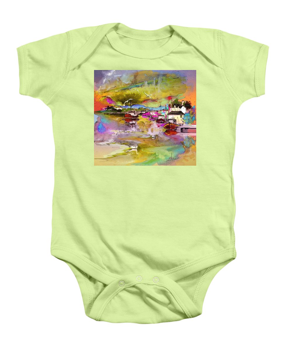 Scotland Paintings Baby Onesie featuring the painting Scotland 13 by Miki De Goodaboom