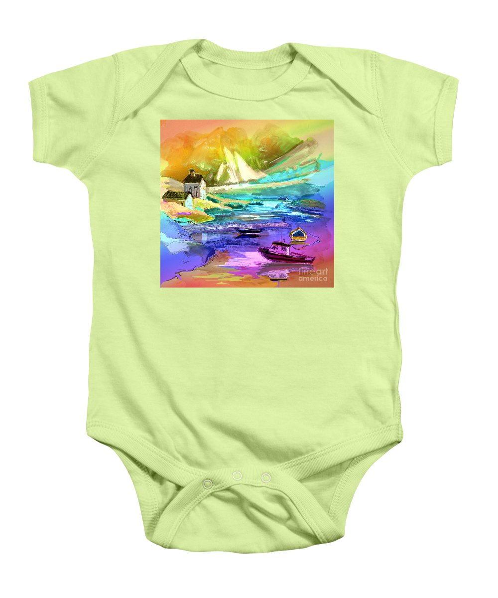 Scotland Paintings Baby Onesie featuring the painting Scotland 15 by Miki De Goodaboom