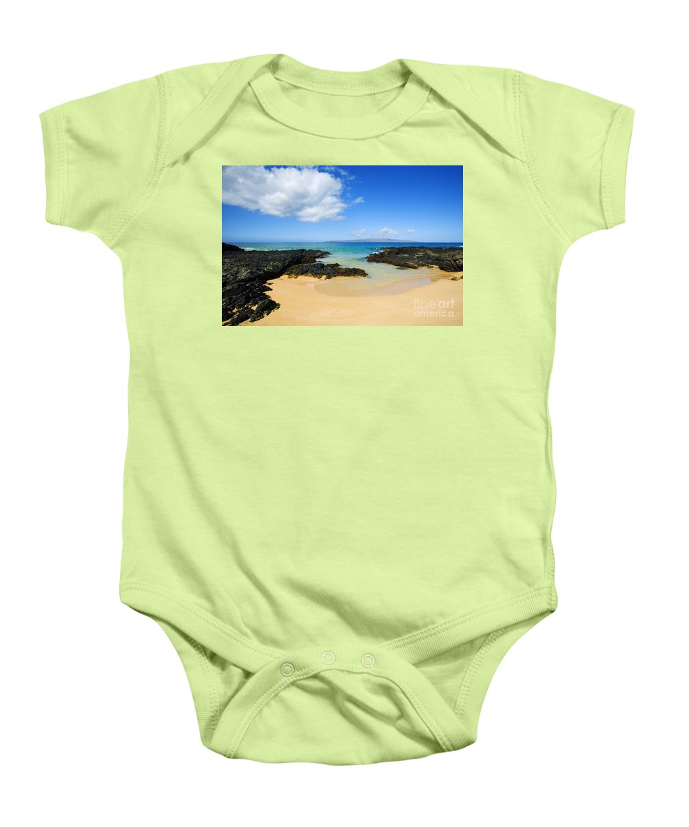Beach Baby Onesie featuring the photograph Secret Beach by Ron Dahlquist - Printscapes