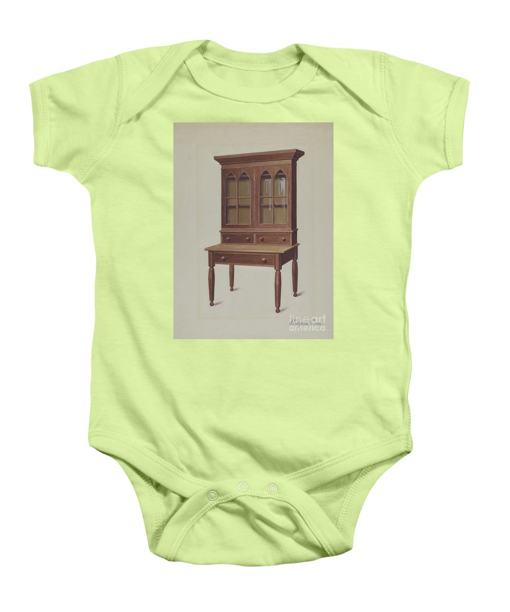 Baby Onesie featuring the drawing Secretary Desk by Eugene Croe