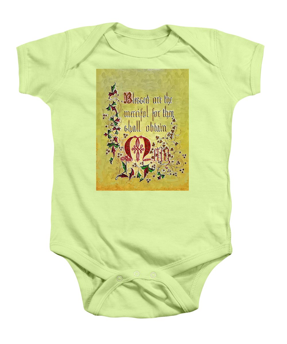 Calligraphy Baby Onesie featuring the photograph Sermon by Donna Bentley