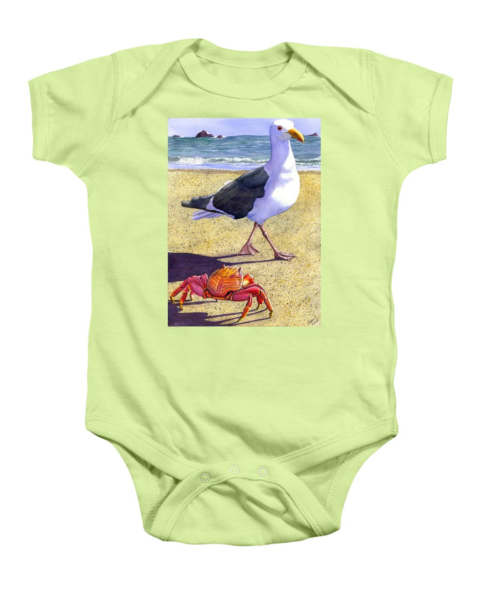 Crab Baby Onesie featuring the painting Side Stepping by Catherine G McElroy
