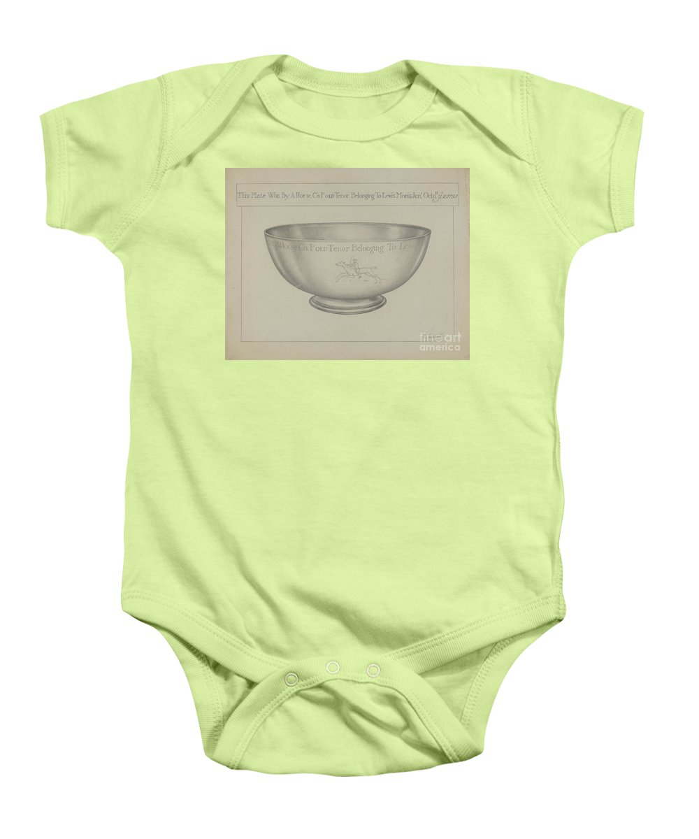 Baby Onesie featuring the drawing Silver Bowl by Giacinto Capelli