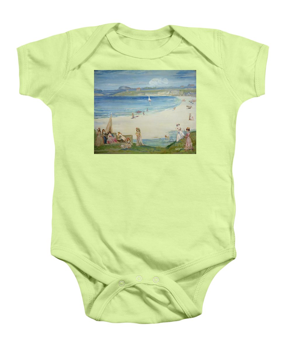 Silver Baby Onesie featuring the painting Silver Sands by Charles Edward Conder