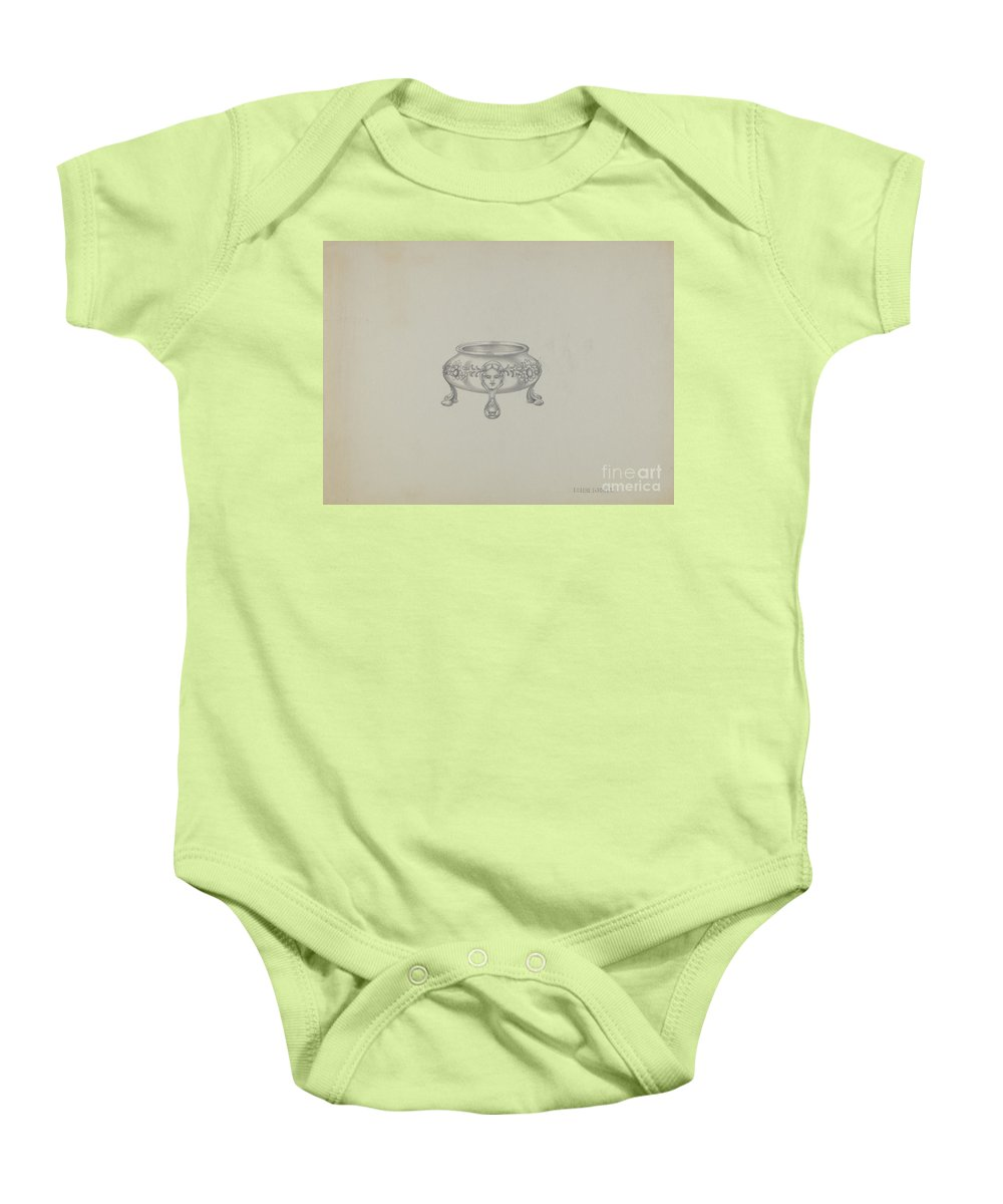 Baby Onesie featuring the drawing Silver Trencher Salt by Eugene La Foret