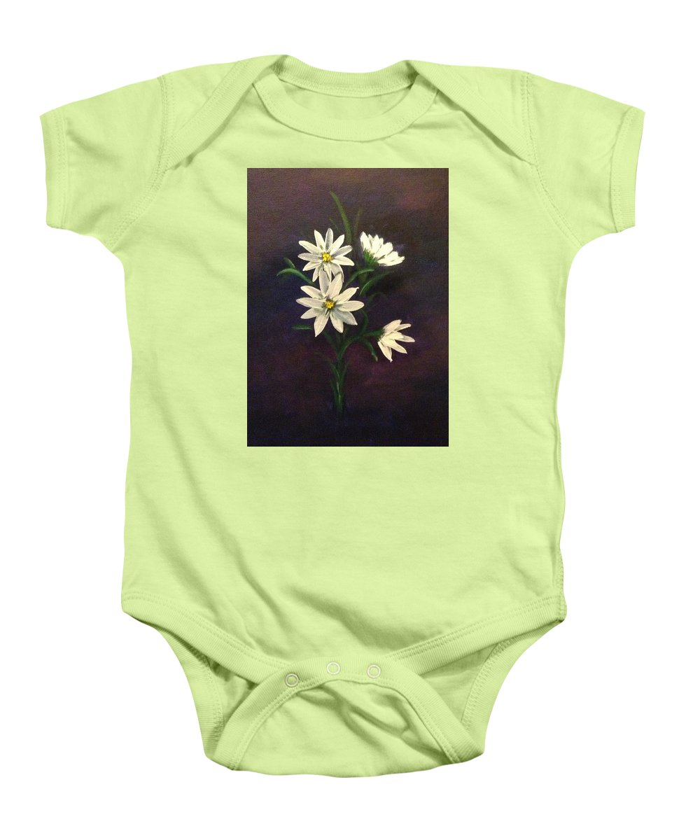 Flowers Baby Onesie featuring the painting Simply Daisies by Kimberley Gates