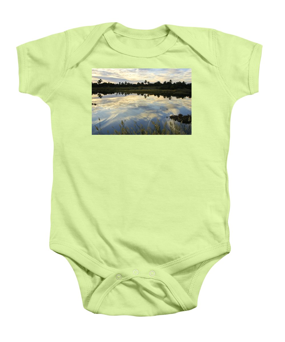 Egypt Baby Onesie featuring the photograph Siwa Oasis Sunset by Michele Burgess