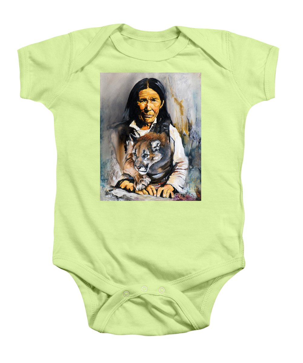 Spiritual Baby Onesie featuring the painting Spirit Within by J W Baker