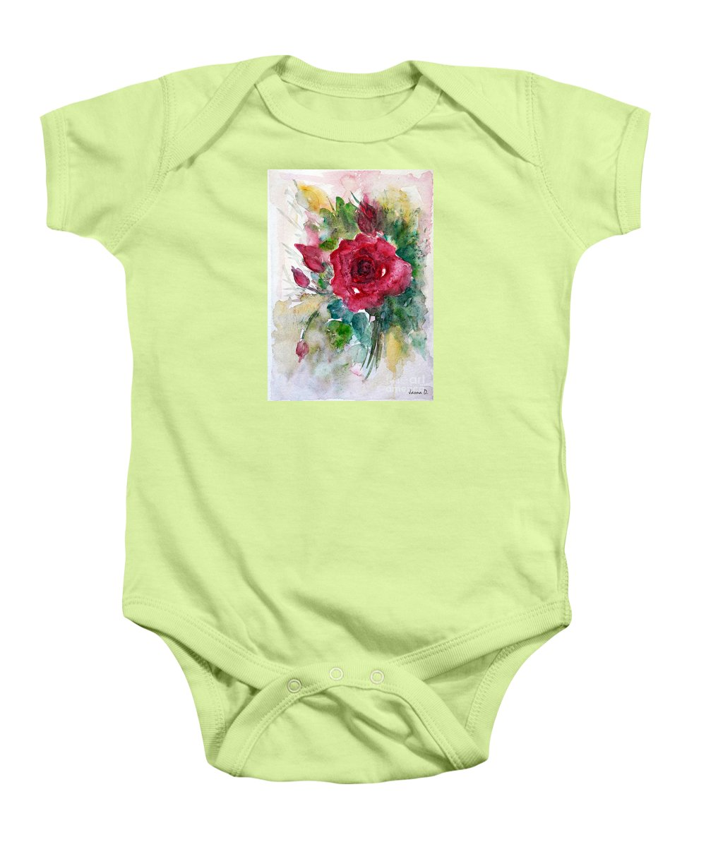 Flowers Baby Onesie featuring the painting Spring For You by Jasna Dragun
