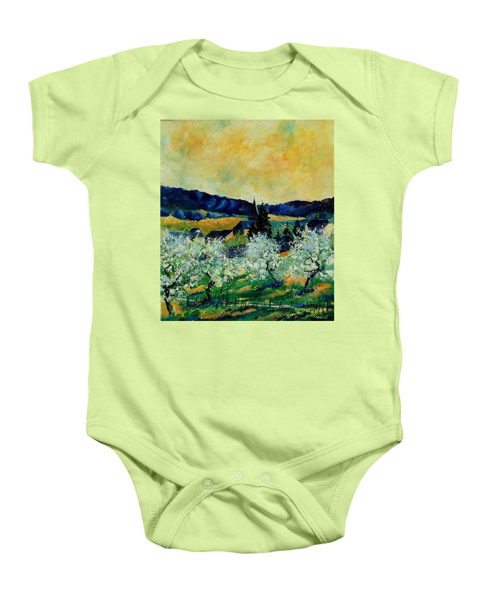 Spring Baby Onesie featuring the painting Spring In Monceau by Pol Ledent