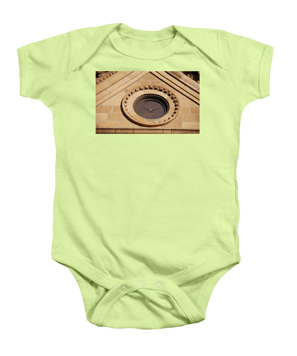 Bird Baby Onesie featuring the photograph Stained Glass Bird by Rob Hans
